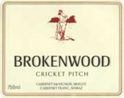 Brokenwood Cricket Pitch Red 2004 Front Label
