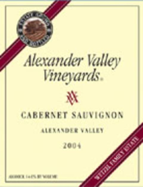 Alexander Valley Vineyards Cabernet Sauvignon 2004 Front Label