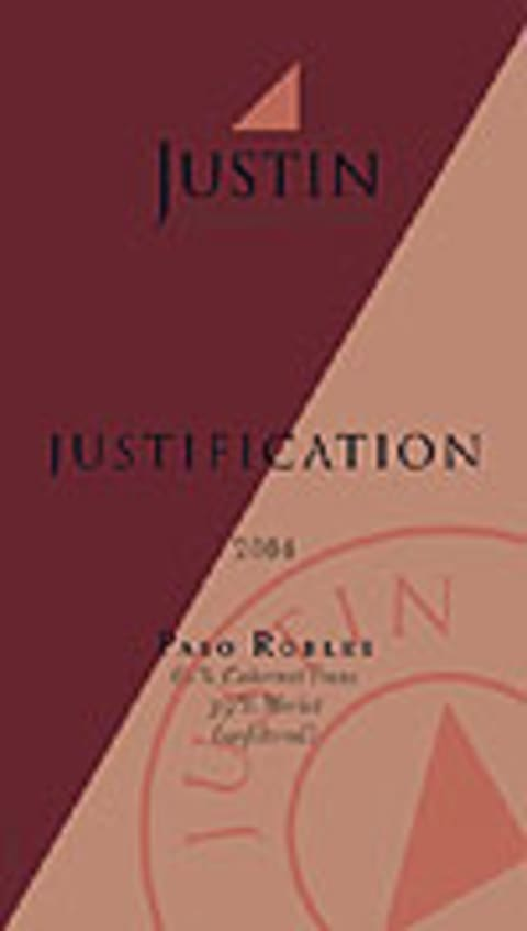 Justin Justification 2004 Front Label