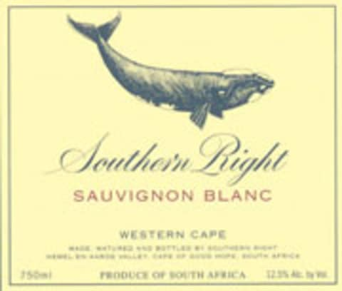 Southern Right Sauvignon Blanc 2005 Front Label