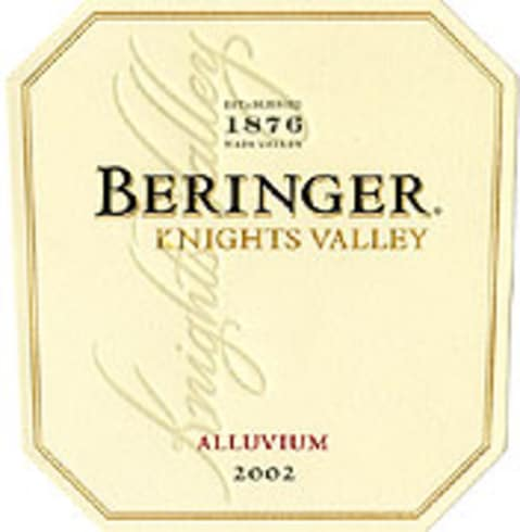 Beringer Knights Valley Alluvium Red 2002 Front Label