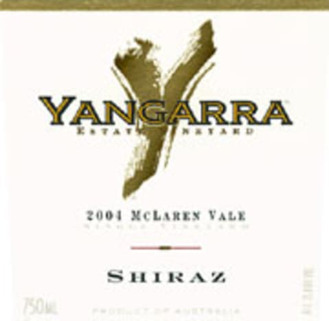 Yangarra Estate McLaren Vale Shiraz 2004 Front Label