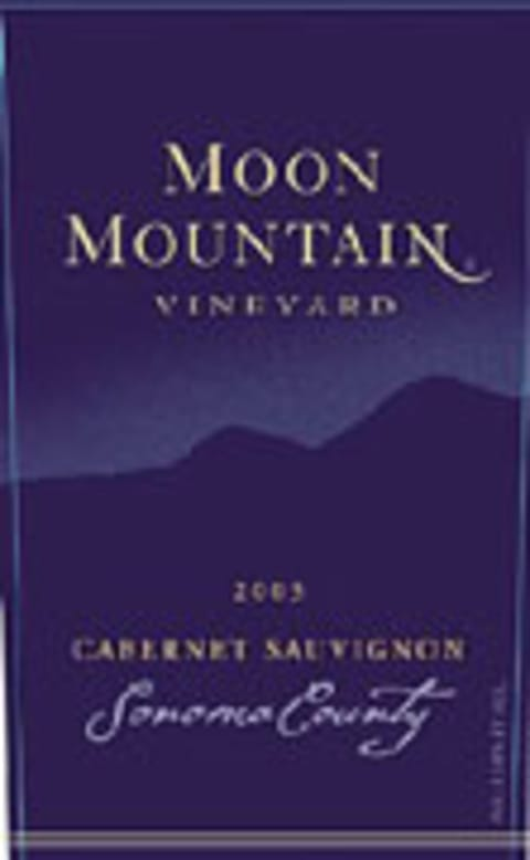 Moon Mountain Cabernet Sauvignon 2003 Front Label