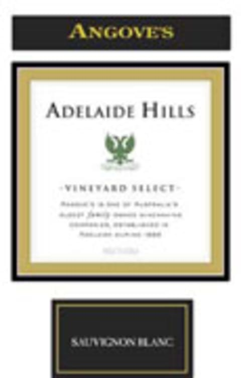 Angove Family Winemakers Adelaide Hills Vineyard Select Sauvignon Blanc 2005 Front Label