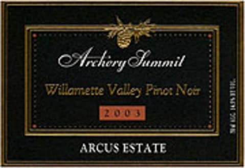 Archery Summit Arcus Pinot Noir 2003 Front Label