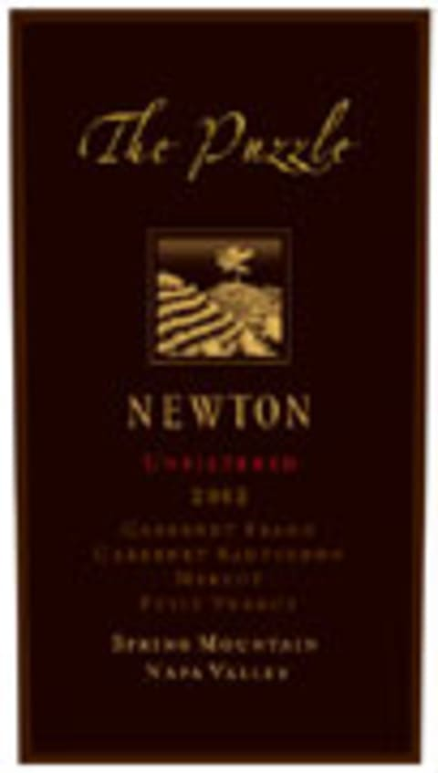 Newton The Puzzle 2002 Front Label