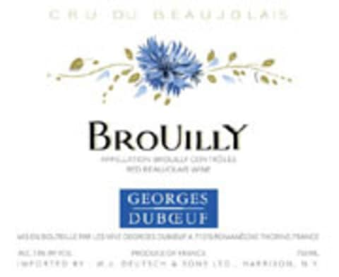 Duboeuf Brouilly 2005 Front Label