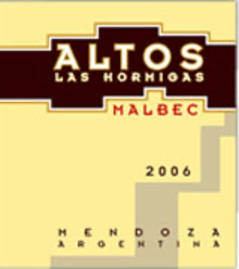 Altos las Hormigas Malbec 2006 Front Label