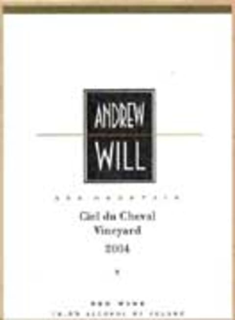 Andrew Will Winery Ciel du Cheval 2004 Front Label