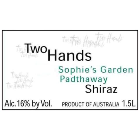 Two Hands Sophie's Garden Shiraz 2005 Front Label