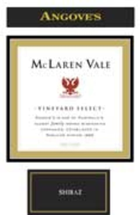 Angove Family Winemakers McLaren Vale Vineyard Select Shiraz 2005 Front Label