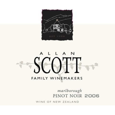 Allan Scott Marlborough Estate Pinot Noir 2006 Front Label
