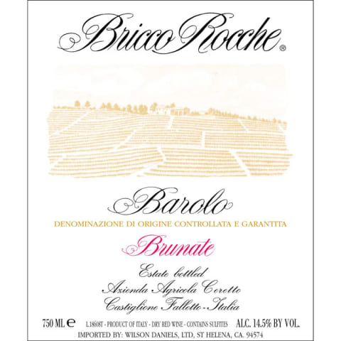 Ceretto Brunate Barolo 2000 Front Label
