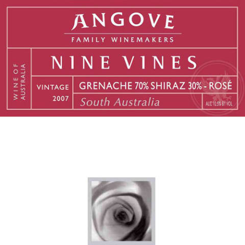 Angove Family Winemakers Nine Vines Rose 2007 Front Label