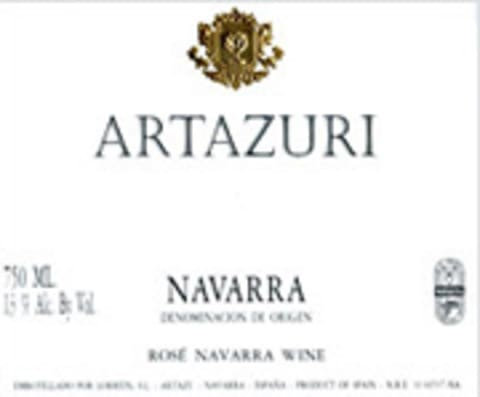 Artazu Artazuri Rose 2005 Front Label