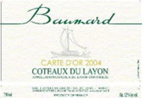 Domaine des Baumard Carte d'Or Coteaux du Layon (375ML half-bottle) 2004 Front Label