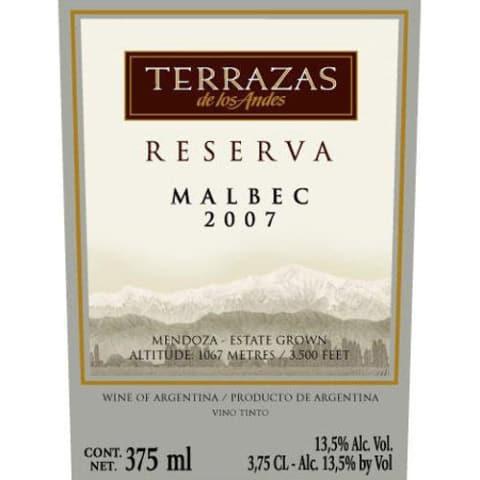 Terrazas De Los Andes Malbec 2007
