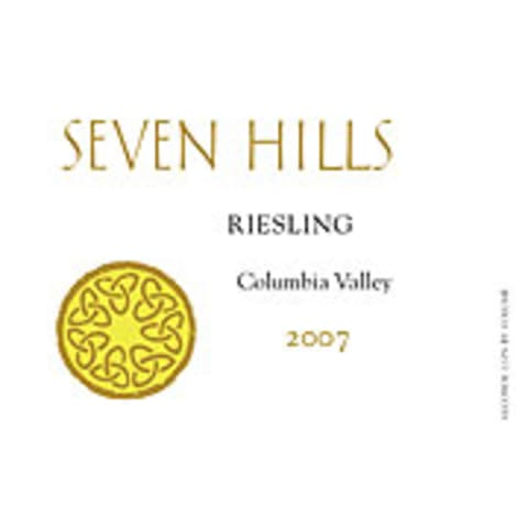 Seven Hills Winery Riesling 2007 Front Label