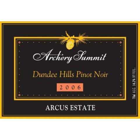 Archery Summit Arcus Pinot Noir 2006 Front Label