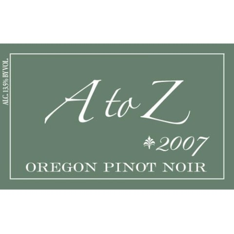 A to Z Pinot Noir 2007 Front Label