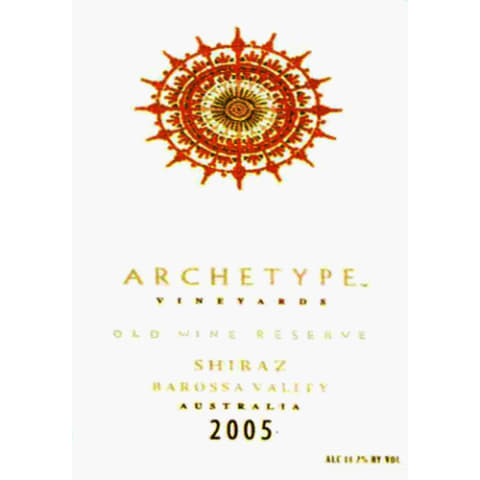Archetype Old Vine Reserve Shiraz 2005 Front Label