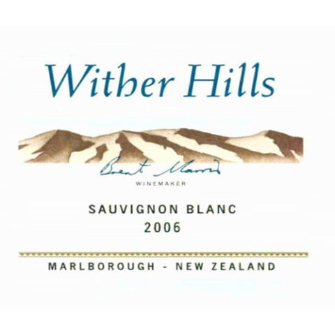 Wither Hills Sauvignon Blanc 2006 Front Label