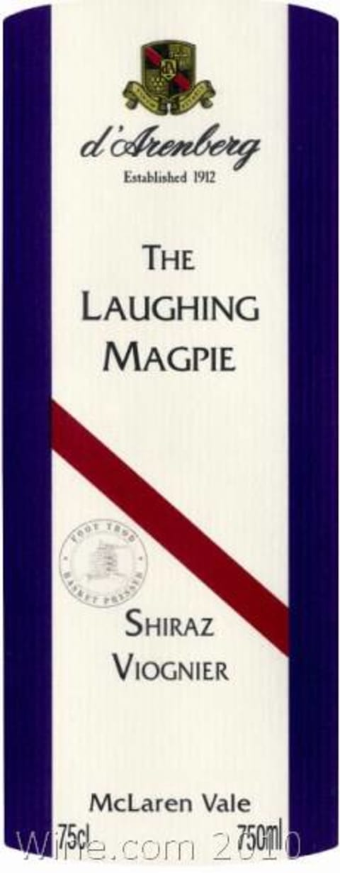 d'Arenberg The Laughing Magpie Shiraz Viognier 2007 Front Label