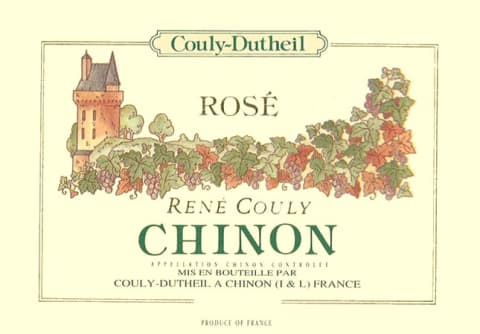 Couly-Dutheil Rene Couly Chinon Rose 2014 Front Label