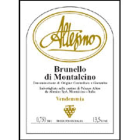 Altesino Brunello di Montalcino 2004 Front Label