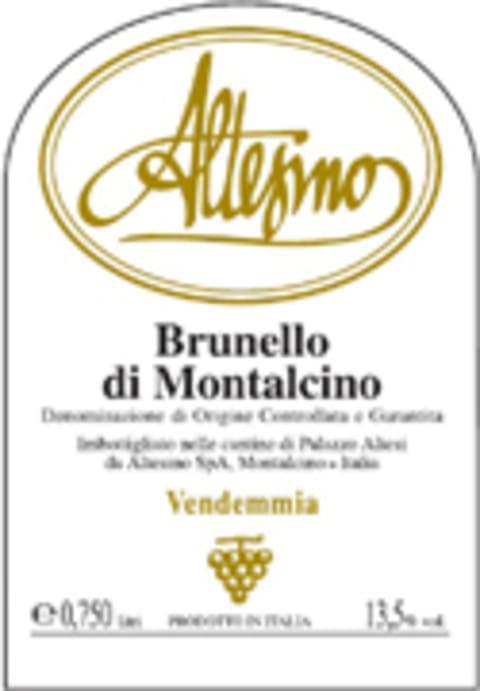 Altesino Brunello di Montalcino (375ML half-bottle) 2003 Front Label