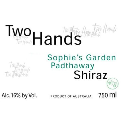 Two Hands Sophie's Garden Shiraz 2007 Front Label