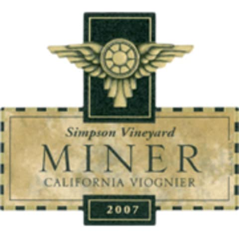 Miner Family Simpson Vineyard Viognier 2007 Front Label