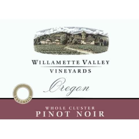 Willamette Valley Vineyards Whole Cluster Pinot Noir 2008 Front Label