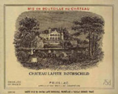 Chateau Lafite Rothschild (375ML half-bottle) 2004 Front Label
