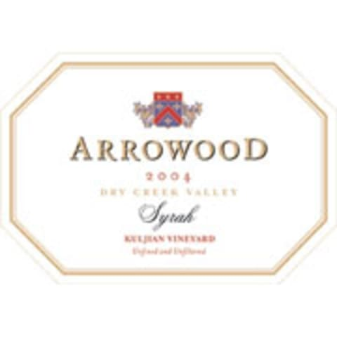 Arrowood Kuljian Dry Creek Syrah 2004 Front Label
