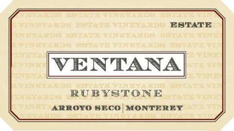 Ventana Rubystone Red 2015 Front Label