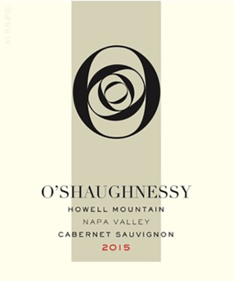 O'Shaughnessy Howell Mountain Cabernet Sauvignon 2015 Front Label