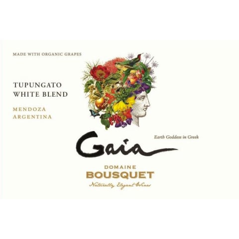 Domaine Bousquet Gaia White Blend 2018  Front Label