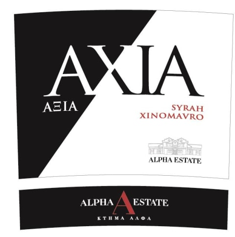Alpha Estate Axia Red 2017  Front Label
