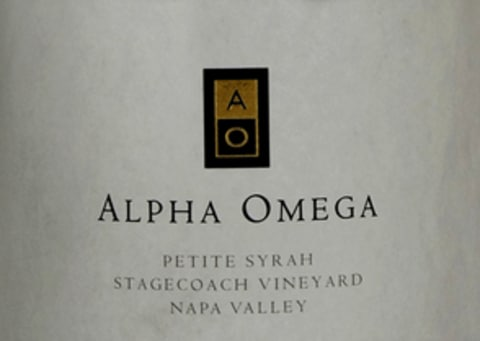 Alpha Omega Stagecoach Vineyard Petite Sirah 2013 Front Label
