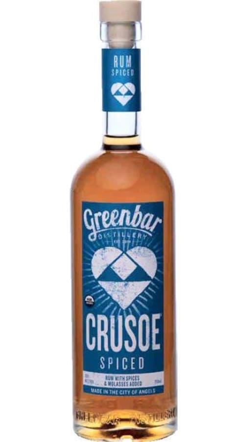 Greenbar Crusoe Spiced Rum Front Bottle Shot