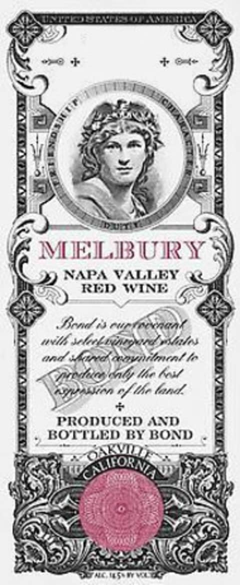 Bond Melbury 2014 Front Label