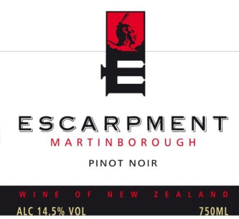 Escarpment Pinot Noir 2015 Front Label