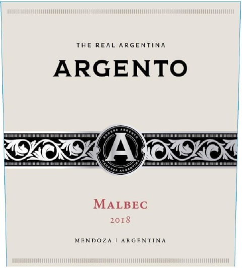 Argento Malbec 2018  Front Label