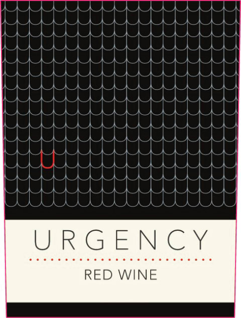 Urgency Red Blend 2018  Front Label