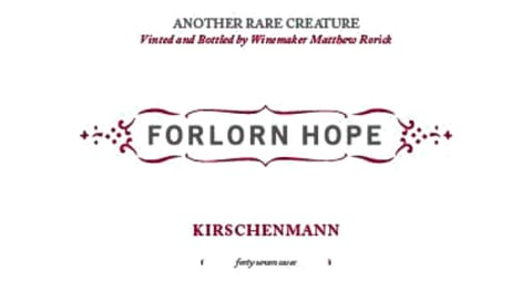 Forlorn Hope Kirschenmann Pinot Gris 2015  Front Label
