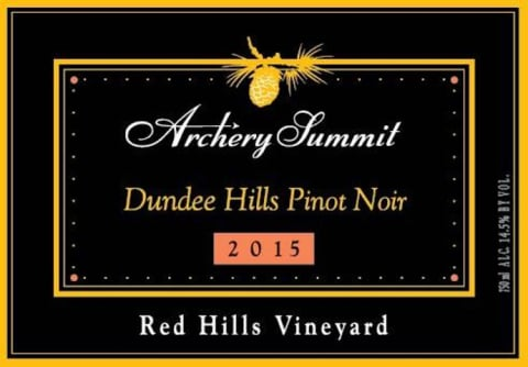 Archery Summit Red Hills Estate Pinot Noir 2015 Front Label