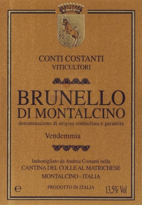 Conti Costanti Brunello di Montalcino (3 Liter Bottle) 2008  Front Label