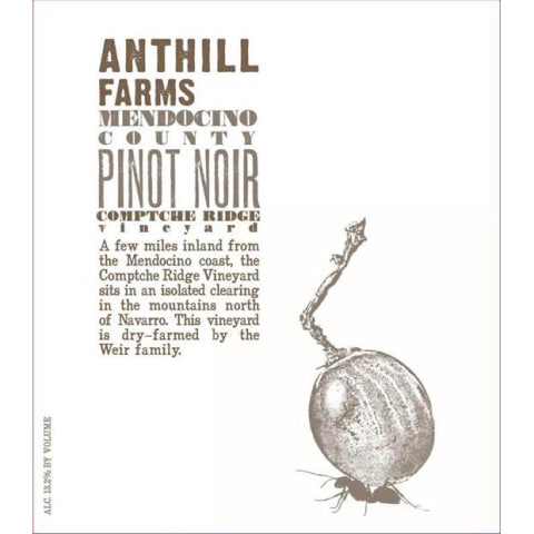 Anthill Farms Comptche Ridge Vineyard Pinot Noir 2016 Front Label