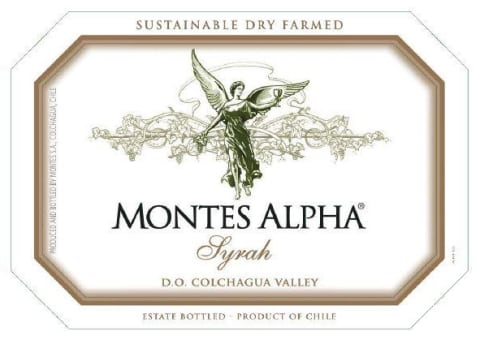 Montes Alpha Series Syrah 2018  Front Label